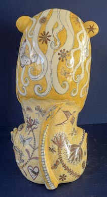 Ceramic Lion by G Warne back view